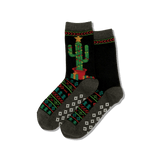 Women's Christmas Cactus Crew Socks
