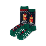Women's Meowy Christmas Crew Socks