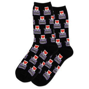 Women's Love Letter Crew Socks