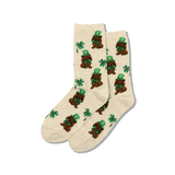 Women's Irish Pup Crew Socks