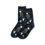 Women's Haunted House Crew Socks thumbnail