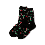 Women's Christmas Cocktails Crew Socks thumbnail