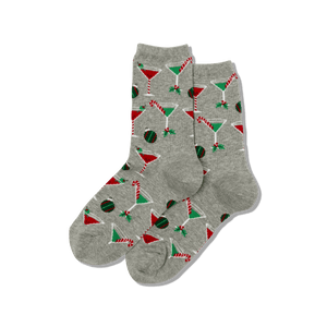 Women's Christmas Cocktails Crew Socks