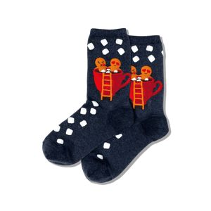 Women's Gingerbread Couple Crew Socks