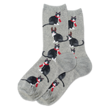 Women's Reindeer Cat Crew Socks thumbnail