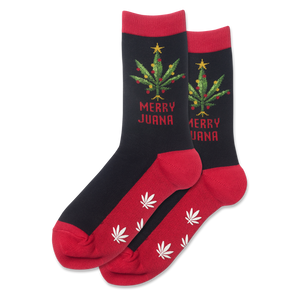 Women's Merry Juana Non Skid Crew Socks