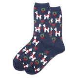 Women's Holiday Llama Crew Socks thumbnail
