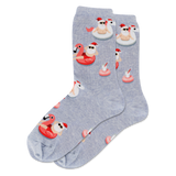 Women's Pool Float Santa Crew Socks