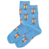 Women's Fourth Of July Hot Dog Crew Socks thumbnail