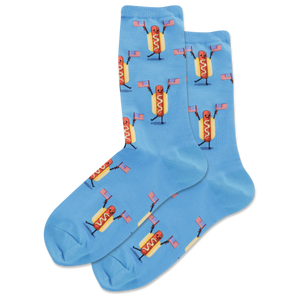 Women's Fourth Of July Hot Dog Crew Socks