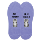 Women's Just Kitten No Show Socks