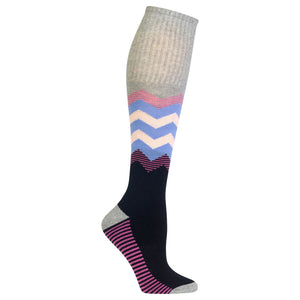 Women's Chevron Sport Knee High Socks