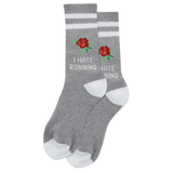 Women's I Hate Running Crew Socks