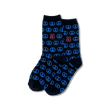 Kid's Peace Signs Crew Socks