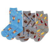 Kid's Fourth Of July Hot Dog Crew Socks