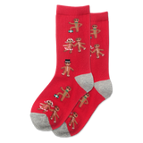 Kid's Gingerbread Cookies Crew Socks
