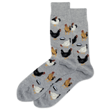 Men's Feeding Chickens Crew Socks