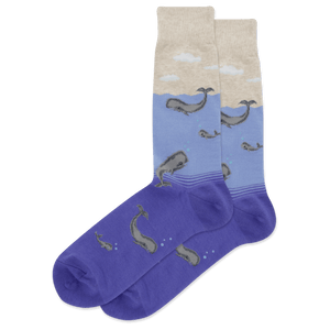 Men's Whale Family Crew Socks