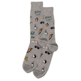 Men's Pop Stickers Crew Socks