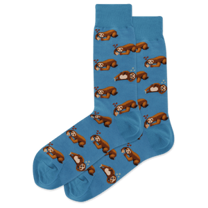 Men's Pizza Sloth Crew Socks