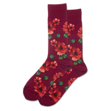 Men's Autumn Floral Crew Socks