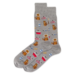 Men's Veterinarian Crew Socks