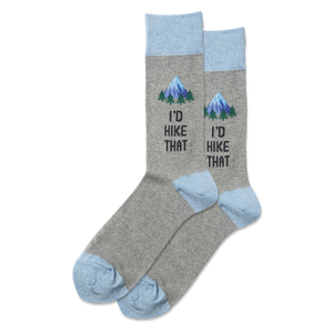 Men's I'd Hike That Crew Socks
