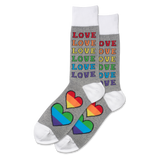 Men's Rainbow Love Crew Socks