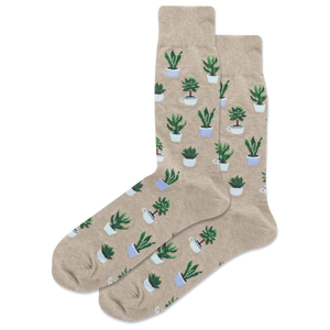 Men's Potted Succulents Crew Socks