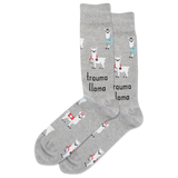 Men's Trauma Llama Crew Socks thumbnail