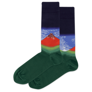 Men's Fuji Mountains In Clear Weather Crew Socks