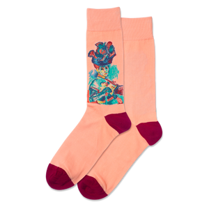 Men's Woman With A Hat Crew Socks