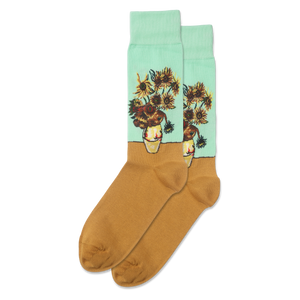 Men's Sunflowers Crew Socks