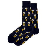 Men's Bow Tie Beer Crew Socks