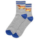 Men's Hot Dog Quarter Socks