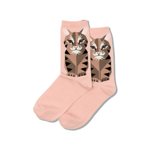 Women's Big Cat Crew Socks