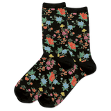 Women's Asian Floral Crew Socks