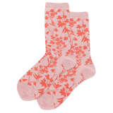 Women's Floral Pattern Crew Socks
