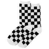 Women's Checkerboard Crew Socks
