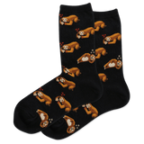 Women's Pizza Sloth Crew Socks thumbnail