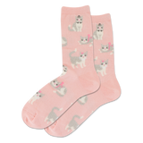 Women's Fuzzy Cat Crew Socks thumbnail
