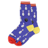 Women's Bowling Stripe Crew Socks