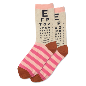 Women's Eye Chart Crew Socks