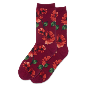 Women's Autumn Floral Crew Socks