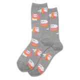 Women's Donut Cat Crew Socks