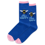 Women's Bee Happy Crew Socks thumbnail