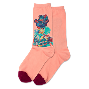 Women's Woman With A Hat Crew Socks