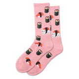 Women's Sushi Cat Sport Crew Socks