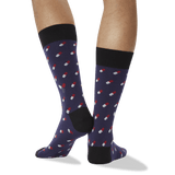 Men's Pills Crew Socks in Navy