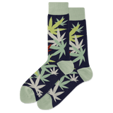 Men's Weed Leaf Crew Socks thumbnail